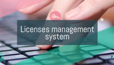 Licenses management system