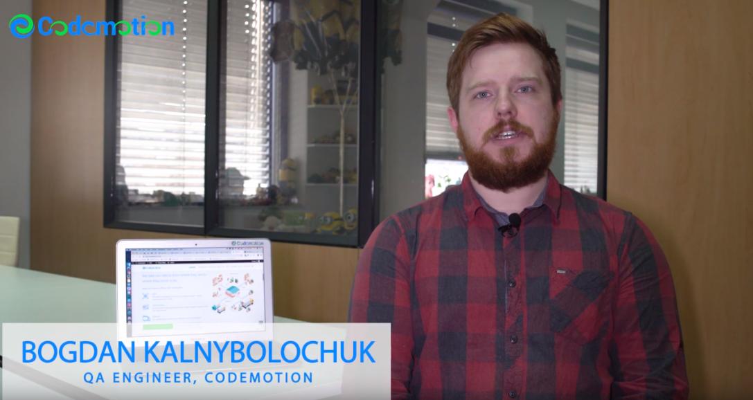 Bogdan Kalnybolochuk – QA Engineer, Codemotion
