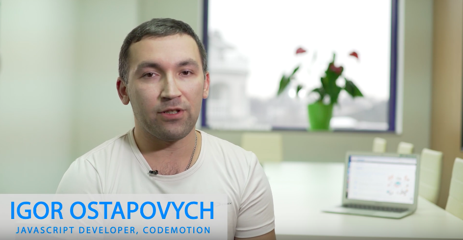 Igor Ostapovych – JavaScript Developer, Codemotion Ninjas